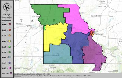 Missouris Congressional Districts Wikipedia