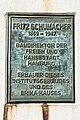 Universitätskrankenhaus (Hamburg-Eppendorf).Gebäude N30.Schumacher-Denkmal.Tafel.20777.ajb.jpg