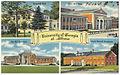 University of Georgia at Athens -- Denmark Hall, Fine Arts Bldg., Ag Hill Cafeteria, Clark Howell Dormitory (8343897260).jpg
