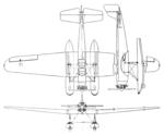 Uppercu-Burnelli Amphibion 3-view Aero Digest February,1930.png