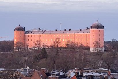Vägbeskrivningar till Uppsala Slott med kollektivtrafik
