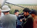 Uri Avneri and the Film Team During the Shooting of Warrior of Peace 2.jpg