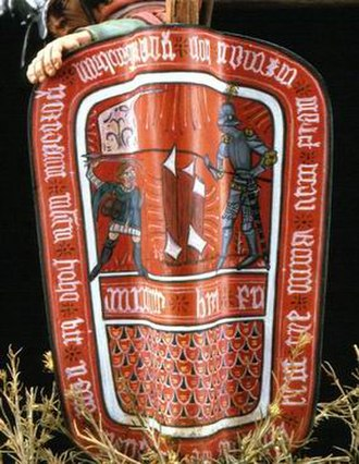 Hussites - Recreation of Hussite shield from an original in the Museum of Prague