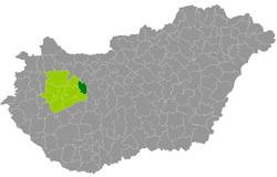 Várpalota District within Hungary and Veszprém County.