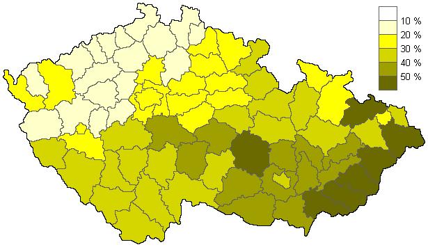 Věřící - sčítání 2001