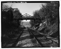 VIEW OF SOUTH TRUSS, LOOKING NORTH - Marlow Road Bridge, Spanning CSX Railroad on Marlow Road, Clinton, Anderson County, TN HAER TN-31-2.tif