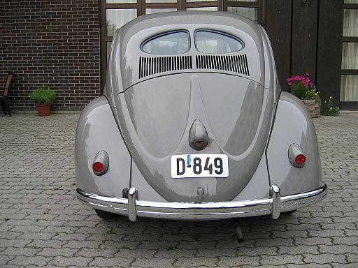 VW Bubbla, årsmodell 1949 bakparti
