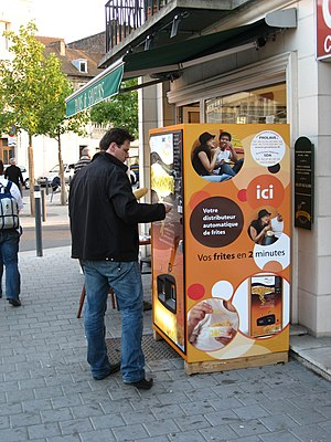 French fry vending machine - Image: Valenciennes frites
