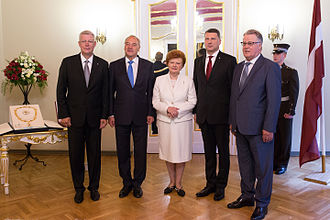 President of Latvia - The five most recent presidents of Latvia in 2015