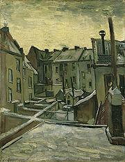 Backyards in Antwerp, 1885, by Vincent van Gogh