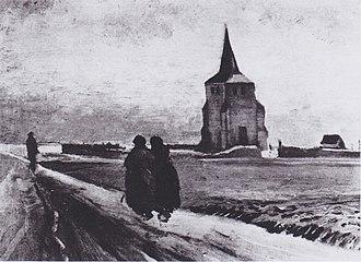 Old Church Tower at Nuenen - Image: Van Gogh Der alte Friedhofsturm in Nuenen mit drei Figuren