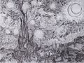 Van Gogh - Die Sternennacht (Zypressen und Dorf).jpeg