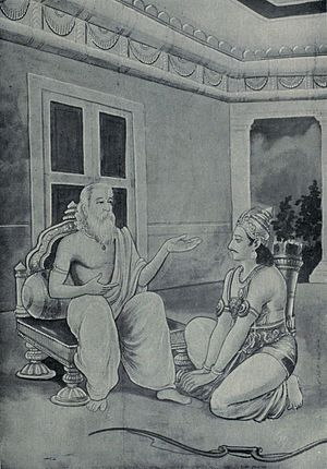 Yadava - Arjuna tells Vasudeva about the destruction of Yadavas and Krishna's message