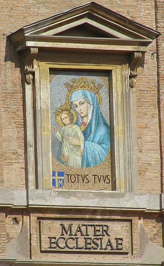 Mother of the Church - Mosaic of Mater Ecclesiae in St. Peter's Square