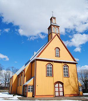 Veiviržėnai - Image: Veiviržėnų Šv. apaštalo evangelisto Mato bažnyčia