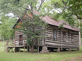 Vera Cruz, Missouri - The old log church in Vera Cruz by the cemetery