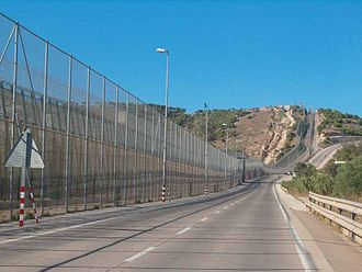 Melilla border fence - Morocco–Spain border, by Melilla