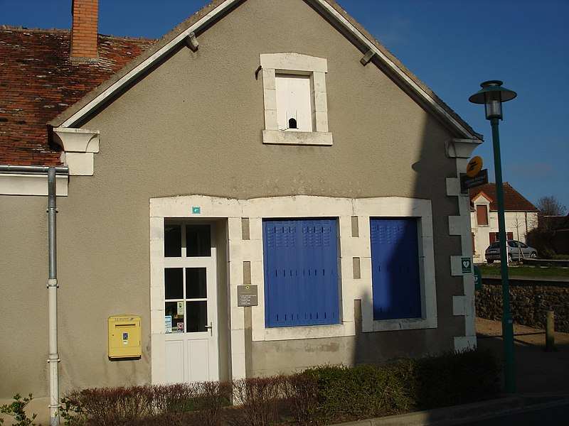 Verneuil-sur-Igneraie (36): L'agence postale communale.