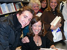 Hislop signing books in Greece, February 2008