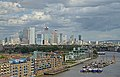 View of Hermitage Community Moorings and Canary Wharf from Tower Bridge. London.jpg