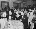 View of table at the dinner honoring President Truman and Vice President Alben Barkley at the Mayflower Hotel in... - NARA - 200013.tif
