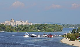 View of the Dnieper River from the North Bridge. Kiev, Ukraine.jpg
