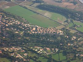 An aerial view of Cornillon-Confoux