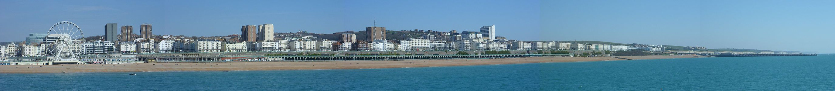 Panorama of the eastern side of Brighton seafront