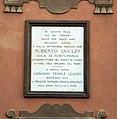 Villa corsini, a castello, facciata, targa robert dudley.JPG