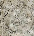Villa le brache, ext, loggia, affreschi tardogotici con storie degli argonauti 10 giasone e un drago 2.jpg