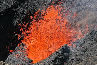 Villarrica (volcano) - Lava fountain within Villarrica's crater