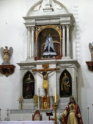 Church of La Soledad, Mexico City - Area with the image of the Virgin of Solitude