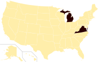 Virginia and Michigan's constitutional bans on same-sex unions.svg