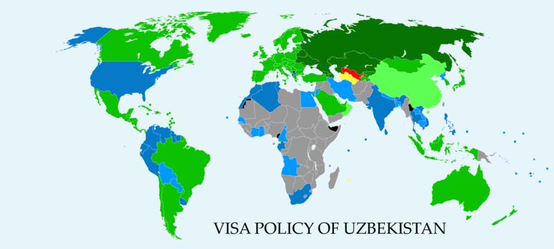 Visa policy of Uzbekistan - Wikipedia
