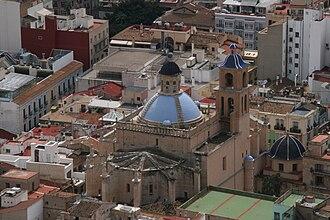 Concatedral de San Nicolás, Alicante - Aerial view of the Co-Catedral of Alicante