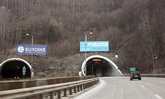 Hemus motorway - Image: Vitinya Tunnel