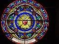 Vitrail Sacré-Coeur de Jésus 1888 collégiale Saint-Austrégésile Saint-Outrille.jpg