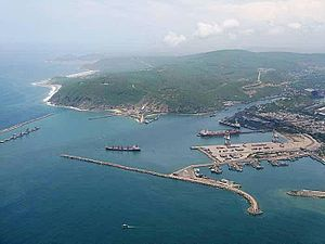 Visakhapatnam Port - Vizag Seaport aerial view