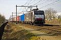 Vlierden 189 091 ERS Railways met container shuttle (12977360153).jpg