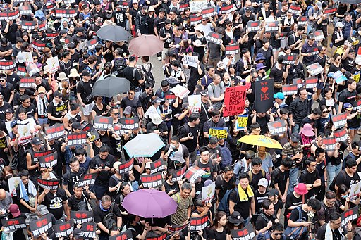 Protests in Hong Kong, June 2019 (Source: Voice of America -- public domain)