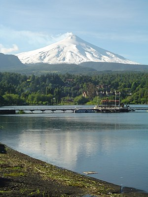 Villarrica (volcano) - View of Villarrica Lake and the eponymous volcano