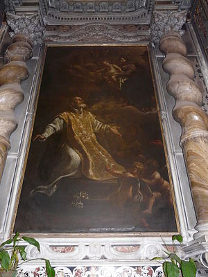 Giovanni Lorenzo Bertolotti - St Philip Neri in contemplation of the Virgin and Child
