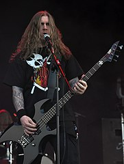 Vomitory, Erik Rundqvist at Party.San Metal Open Air 2013 03.jpg