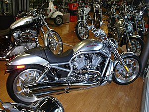 V-Rod on the show room floor