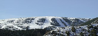 Andon, Alpes-Maritimes - Panoramic View of Audiberge in winter