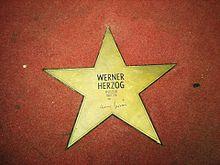 La stella dedicata a Werner Herzog sul Boulevard der Stars a Berlino.