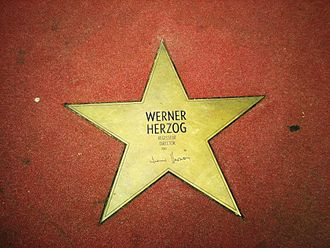 Werner Herzog - Werner Herzog's star on the Boulevard der Stars in Berlin.