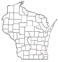 Location of North Prairie, Wisconsin