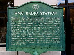 Wmc radio station   shelby county historical society and the tennessee historical commission