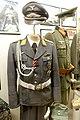 WW2 Norway German Luftwaffe Lieutnant uniform aiguillette brocade belt Gold grade reconnaissance clasp Pilot's badge visor cap Wehrmacht general etc Lofoten Krigsminnemuseum 2019 9903.jpg